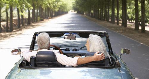 seniors driving car